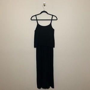 UNIQLO Black Camisole Jersey Knit Jumpsuit